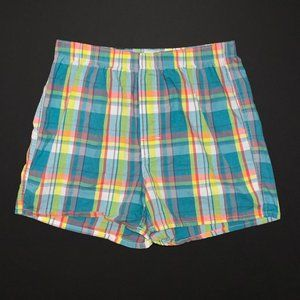 Madras cotton woven boxer shorts size small